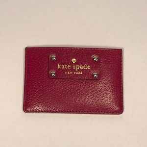 Kate Spade Jam Purple Leather Card Holder